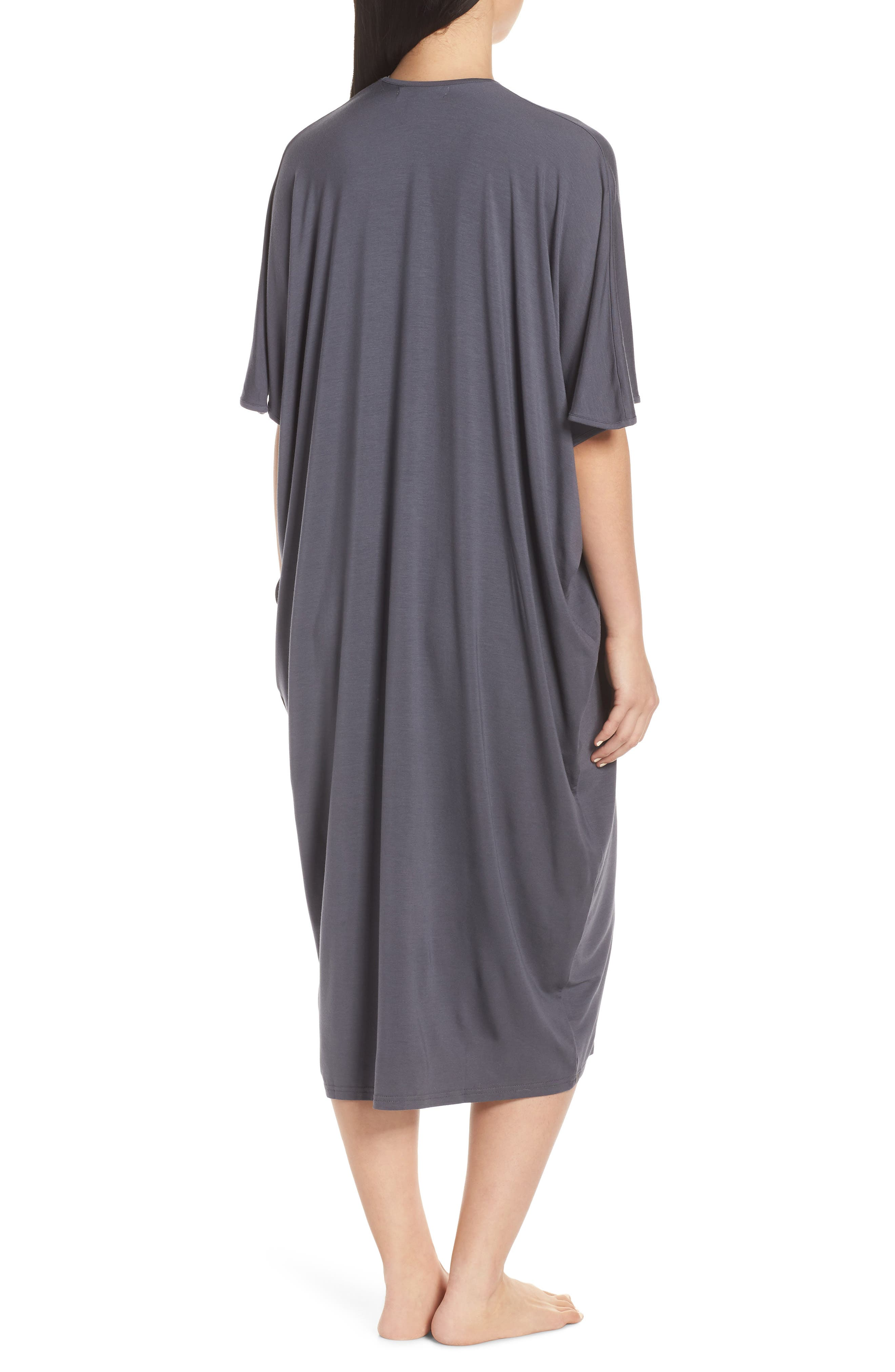 ,                             Luxe Jersey Nightgown,                             Alternate thumbnail 2, color,                             GRAPHITE