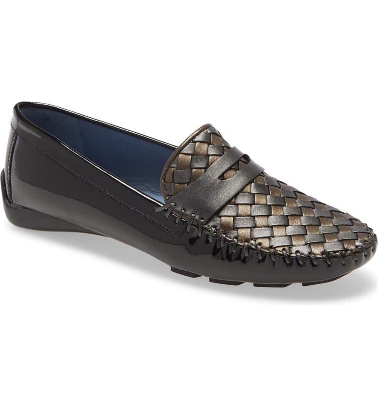ROBERT ZUR 'Petra' Driving Shoe, Main, color, BLACK PATENT COMBO