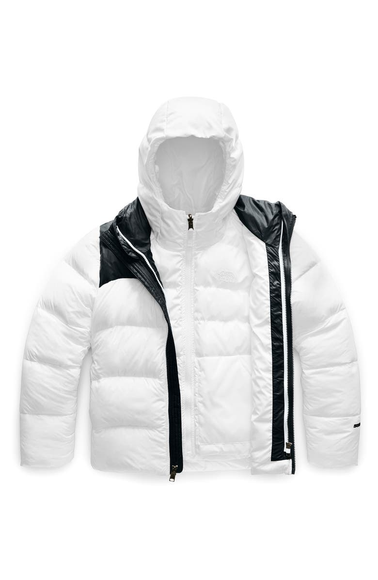 THE NORTH FACE Double Down TriClimate<sup>®</sup> 3-in-1 Jacket, Main, color, TNF WHITE
