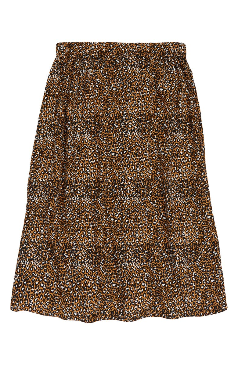 TREASURE & BOND Kids' Leopard Print Midi Skirt, Main, color, 235