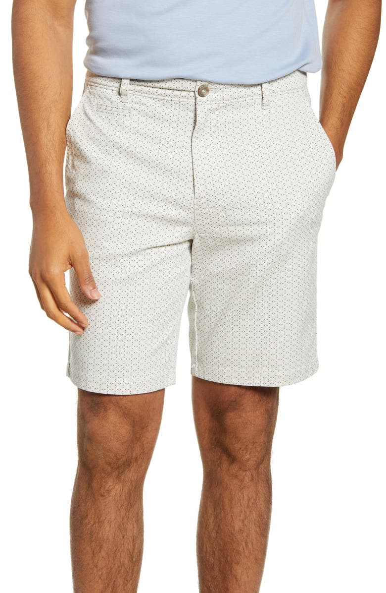JOHNNIE-O Nate Geo Print Chino Shorts, Main, color, STONE