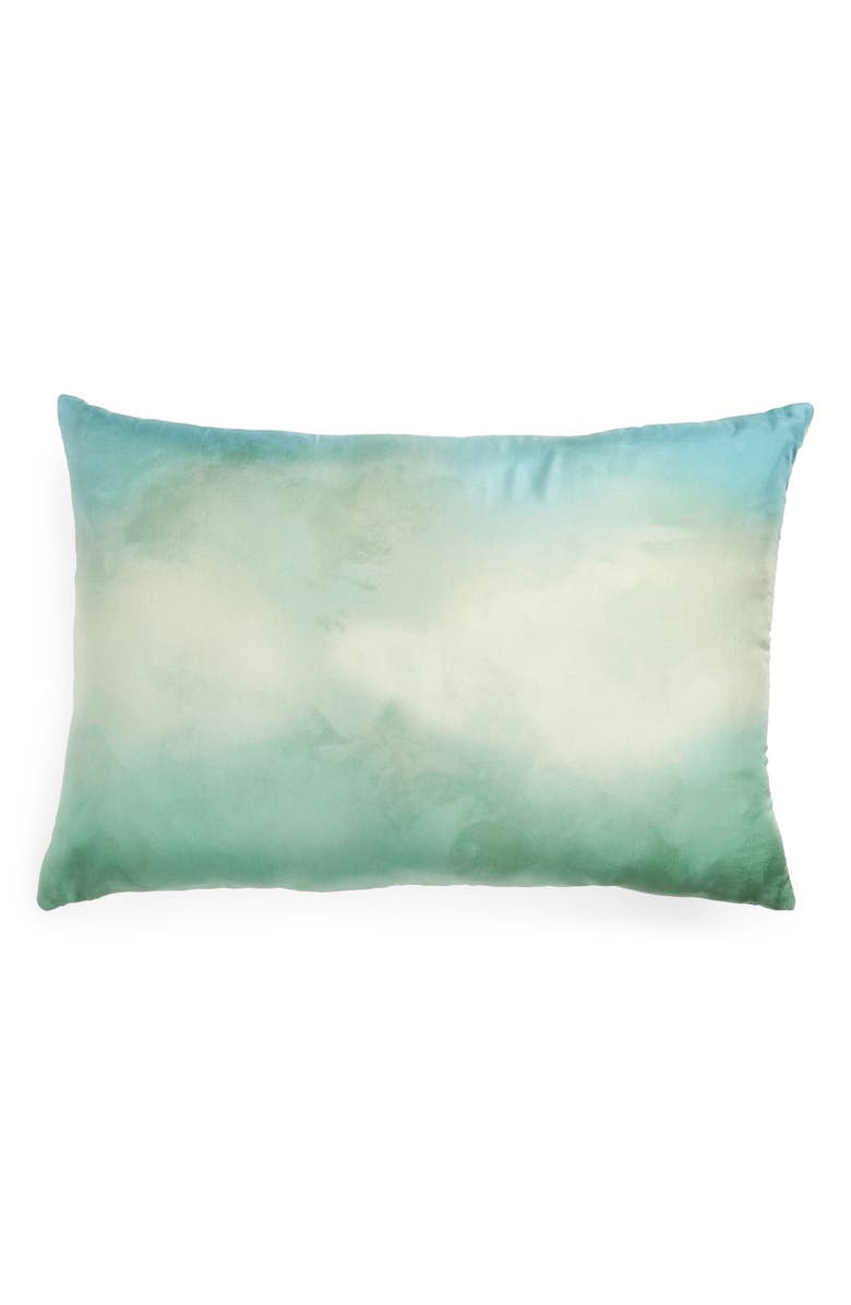 TREASURE & BOND Print Silk Accent Pillow, Main, color, GREEN HALO MULTI