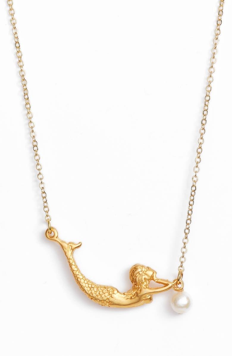 TEN79LA Mermaid & Pearl Necklace, Main, color, 710