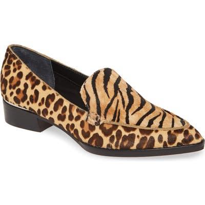 Dolce Vita Arlene Pointed Toe Genuine Calf Hair Loafer, Brown