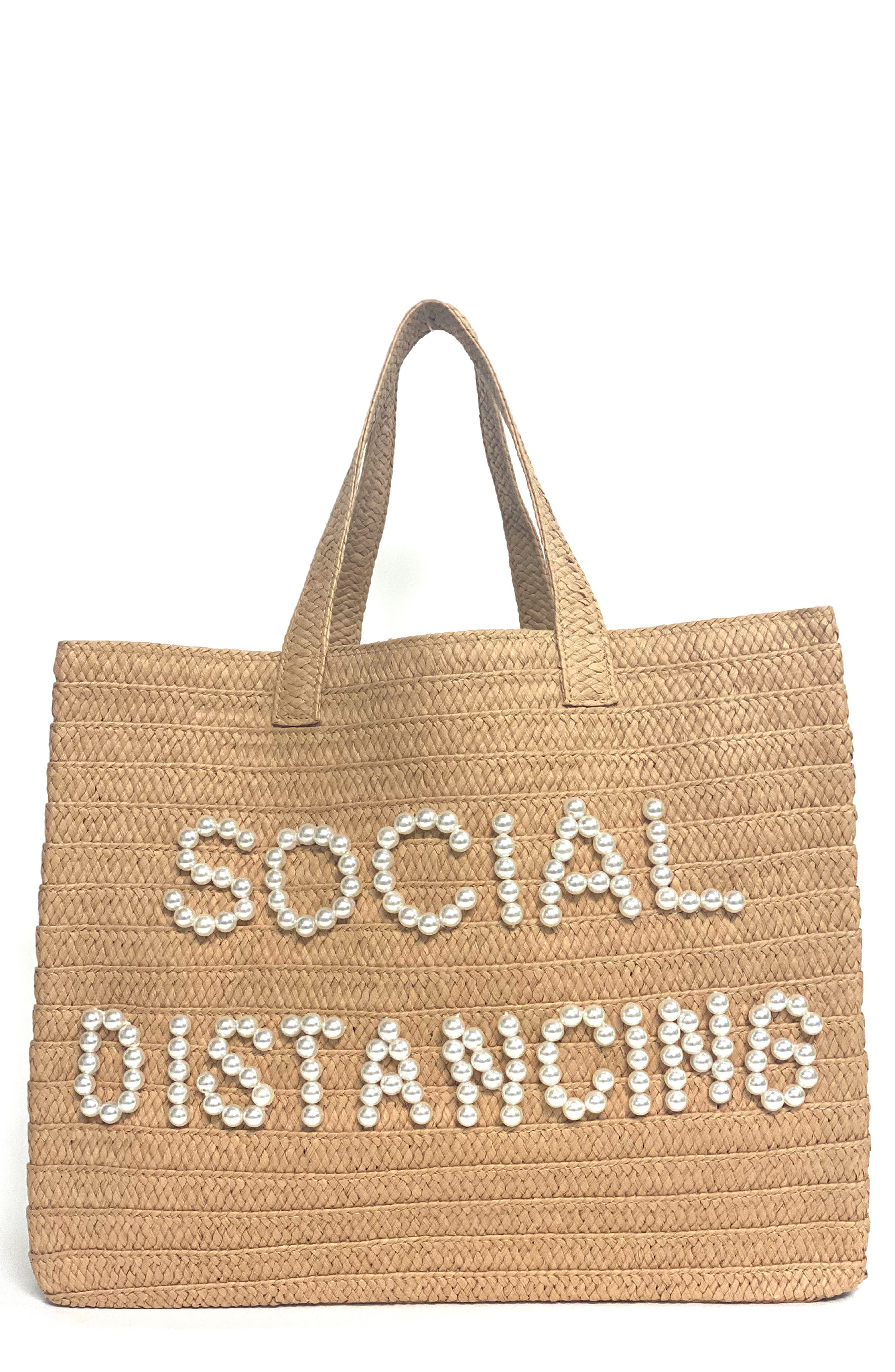 Social Distancing Straw Tote