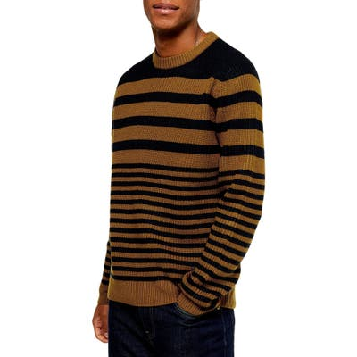 Topman Stripe Crewneck Sweater, Blue