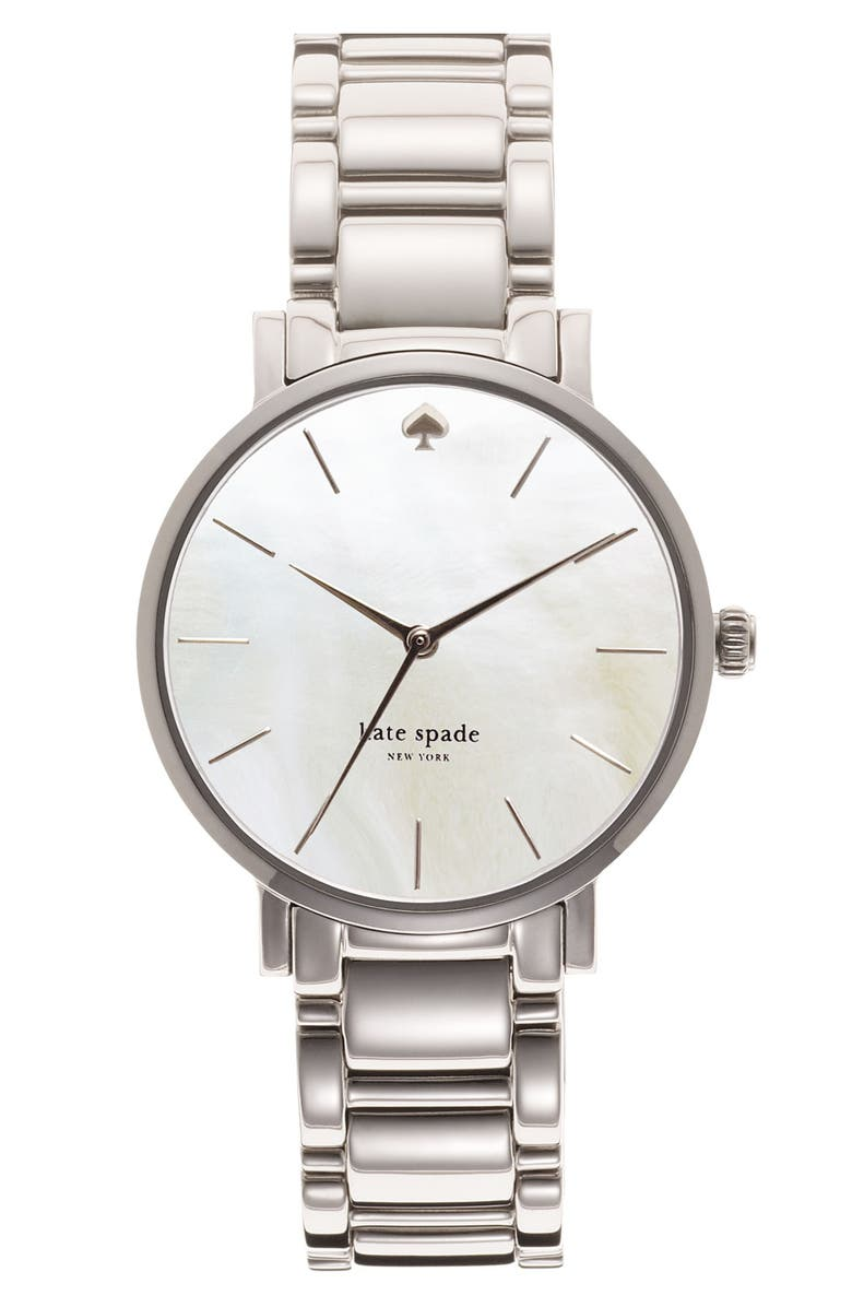 KATE SPADE NEW YORK 'gramercy' bracelet watch, 34mm, Main, color, 040