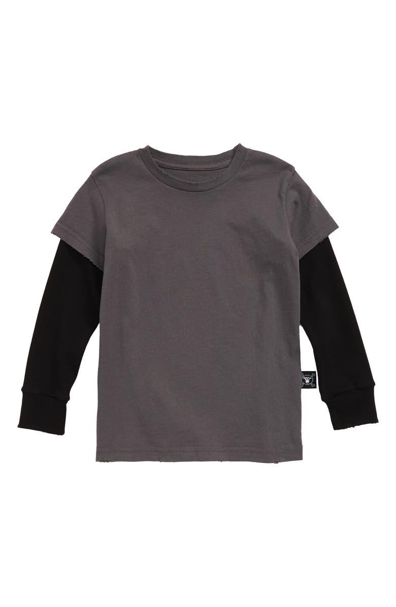 NUNUNU Don't Ask! Layer T-Shirt, Main, color, 001