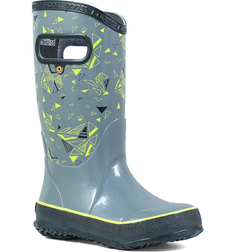 BOGS Triego Waterproof Rain Boot, Main, color, GRAY MULTI