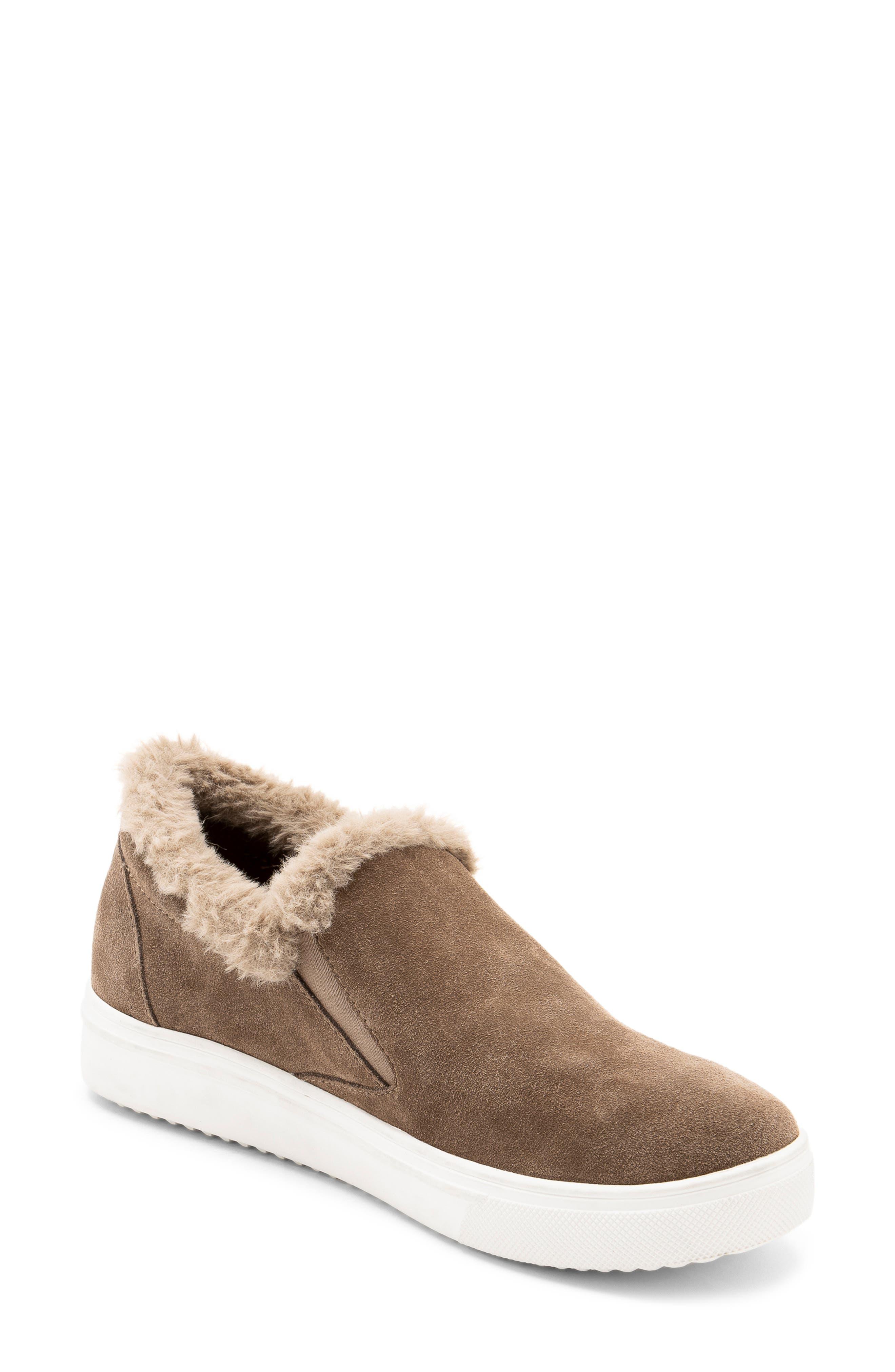 Blondo Gia Faux Fur Trim Waterproof Slip-On Sneaker (Women)