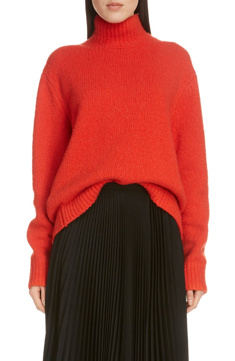 ACNE STUDIOS Kastrid Wool & Cashmere Blend Sweater, Main, color, POPPY RED