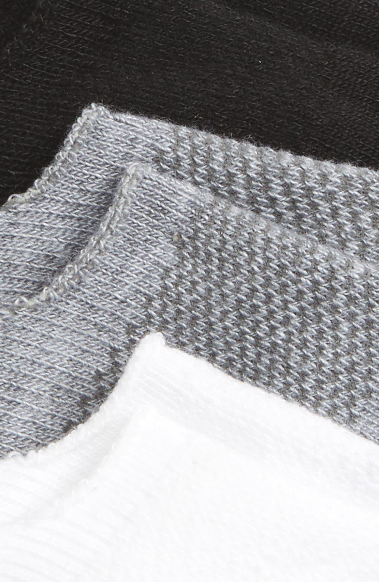 ,                             Assorted 3-Pack Sneaker Liner Socks,                             Alternate thumbnail 2, color,                             GREY MULTI