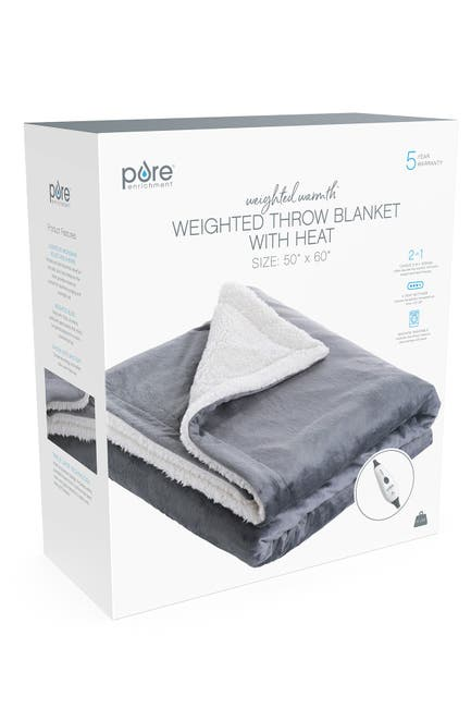 Image of PURE ENRICHMENT PureRelief Heated Weighted Throw