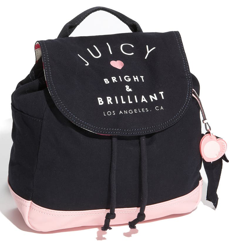 JUICY COUTURE Canvas Backpack, Main, color, 400