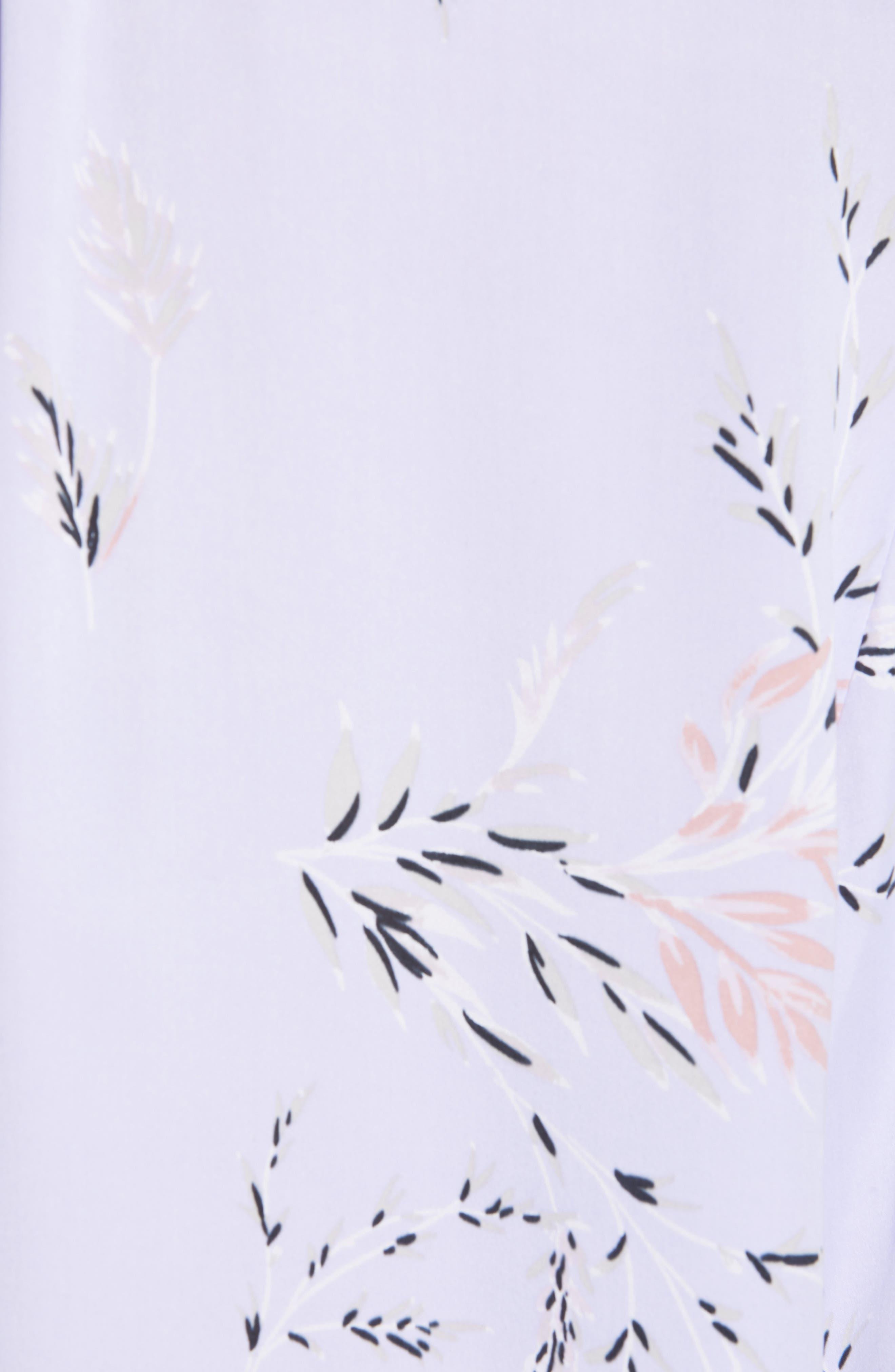 ,                             Causette Silk Blend Shirt,                             Alternate thumbnail 5, color,                             LAVENDER MULTI