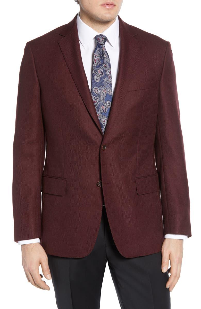 HART SCHAFFNER MARX Classic Fit Solid Wool Sport Coat, Main, color, 607