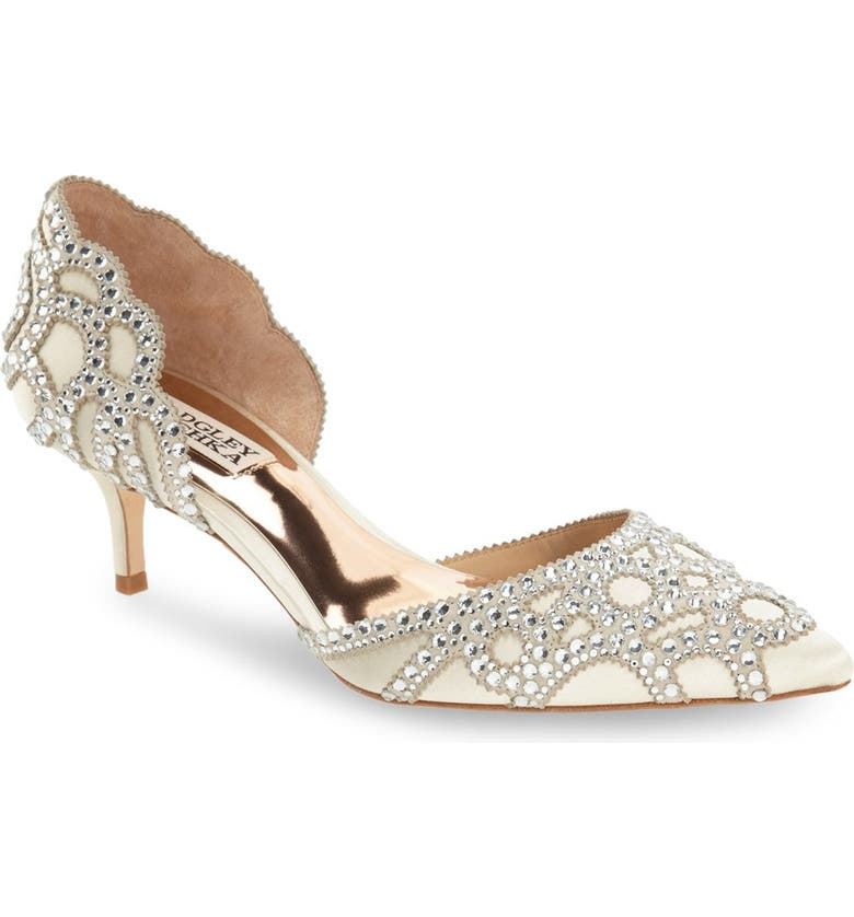 Badgley Mischka 'ginny' Embellished D'orsay Pump by Badgley Mischka Collection