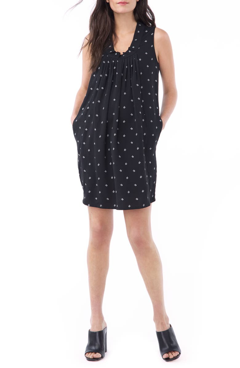 LOYAL HANA Nicole Maternity/Nursing Minidress, Main, color, WHITE ARROW