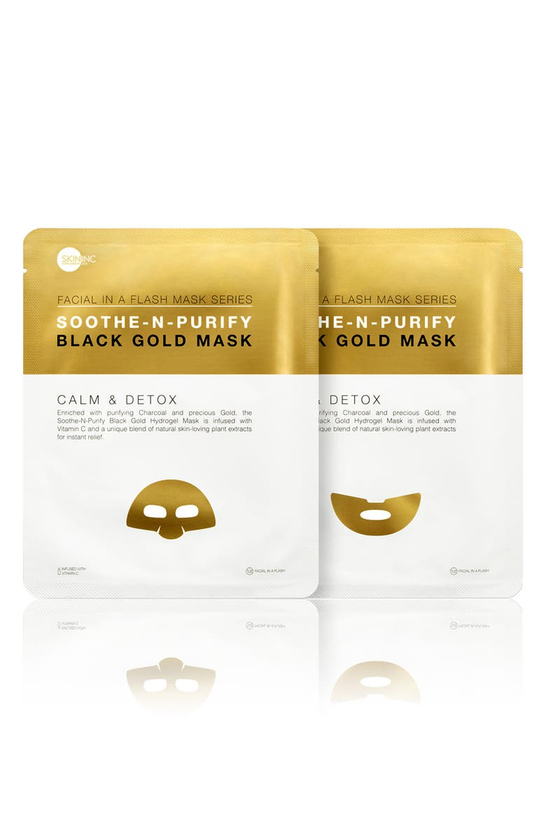 SKIN INC. Soothe-n-Purify Black Gold Mask, Main, color, 000