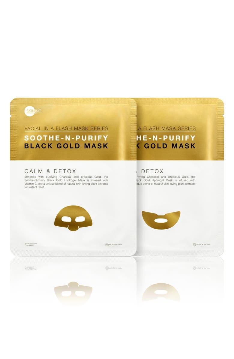 SKIN INC. Soothe-n-Purify Black Gold Mask, Main, color, NO COLOR