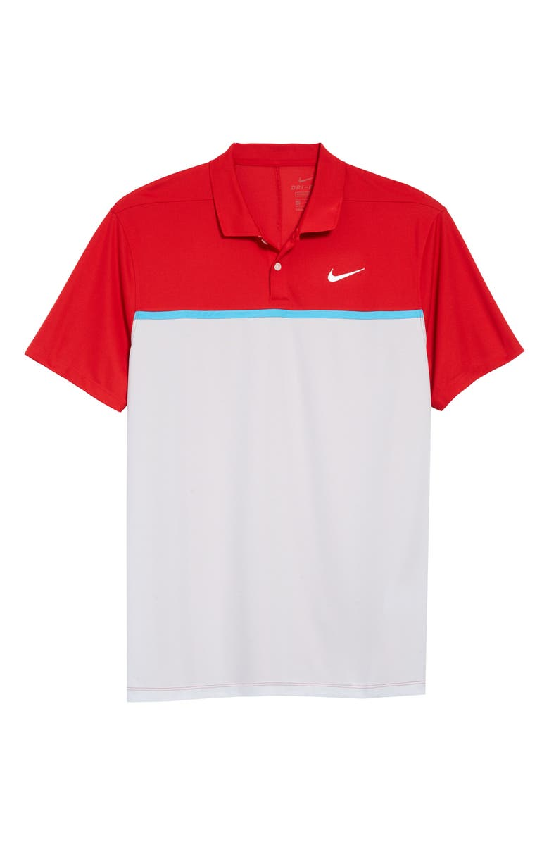 NIKE Golf Dri-FIT Victory Polo Shirt, Main, color, RED/ PURE PLATINUM/ WHITE