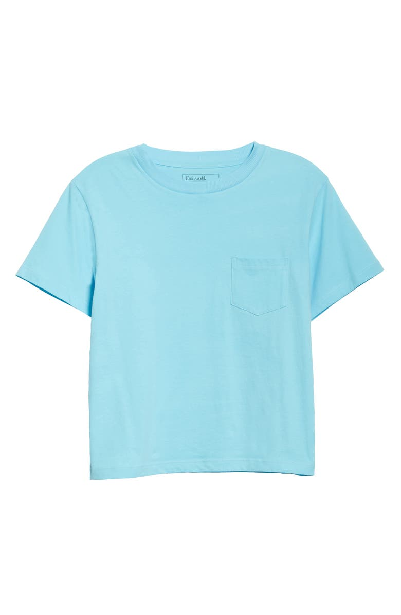 ENTIREWORLD Organic Cotton Jersey Pocket Boy Tee, Main, color, SKY