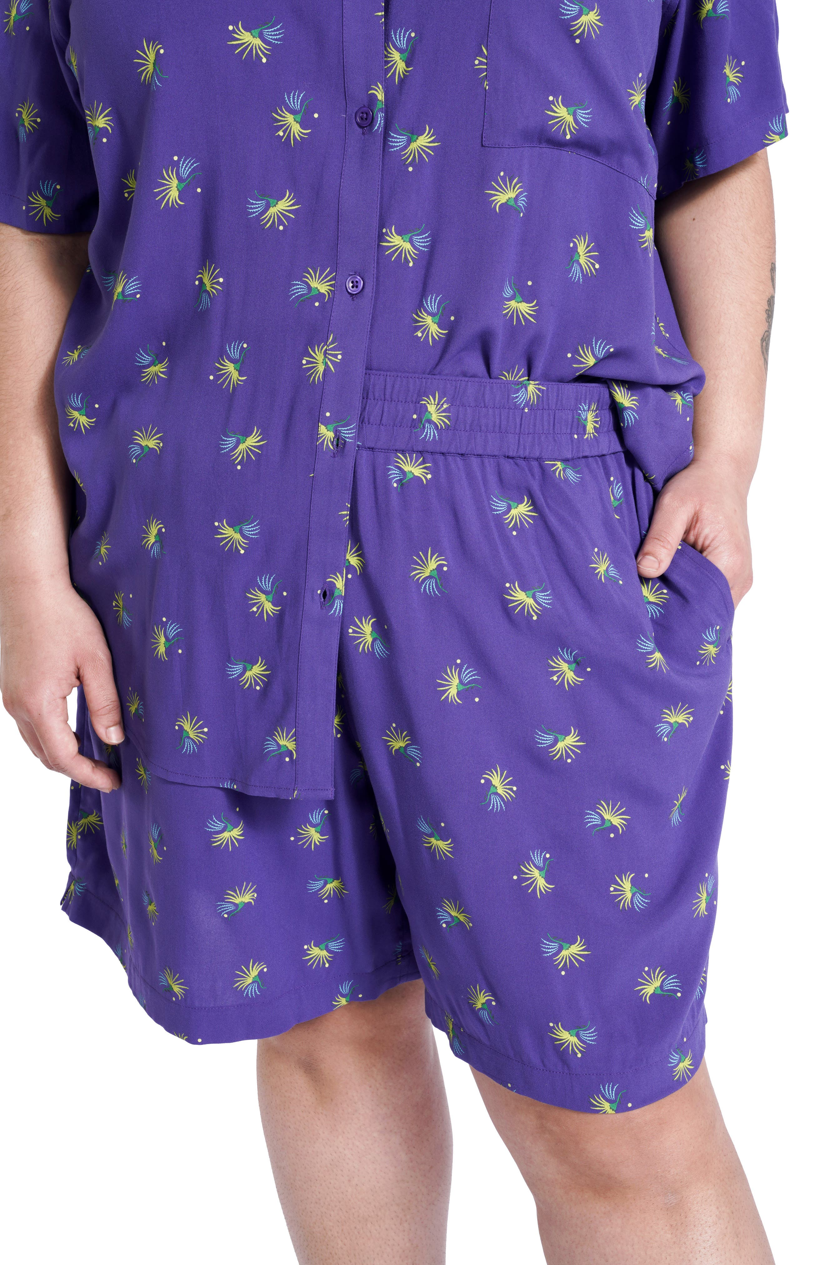 Plus Size Women's Bp. + Wildfang Relaxed Elastic Waist Shorts