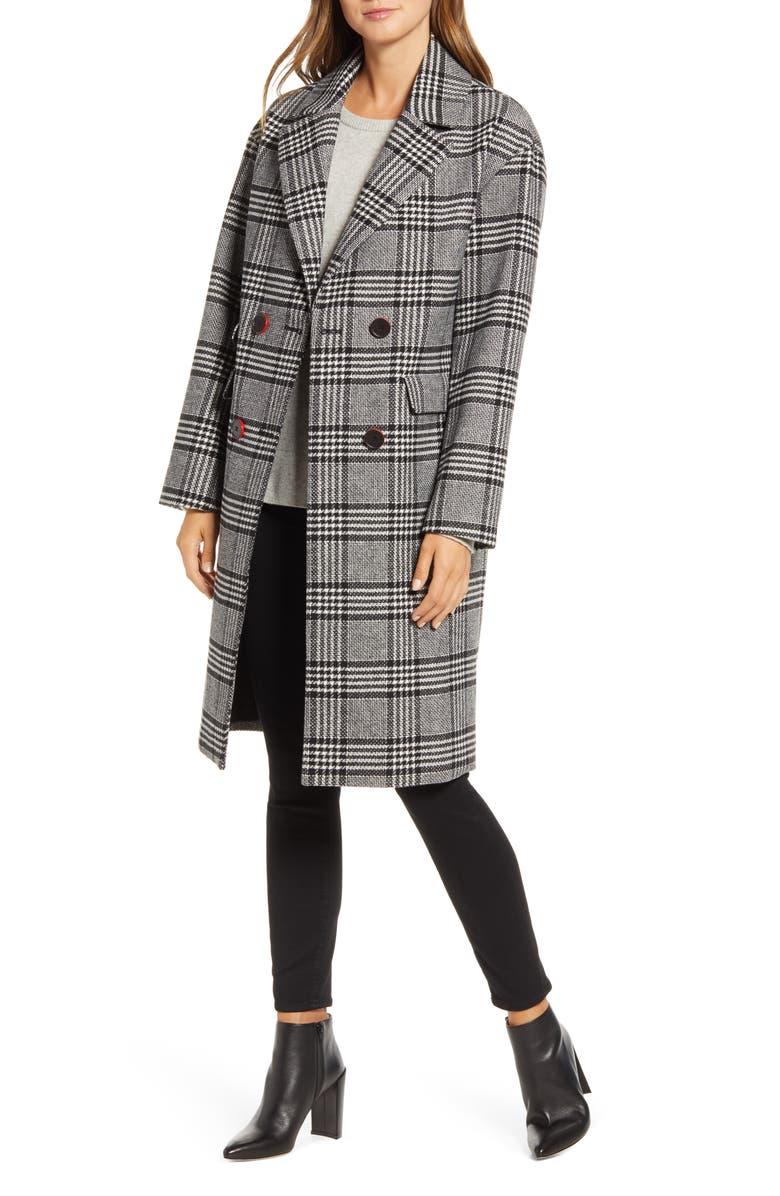 NVLT Check Plaid Coat, Main, color, 001
