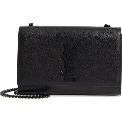 Saint Laurent Small Kate Leather Shoulder Bag - Black