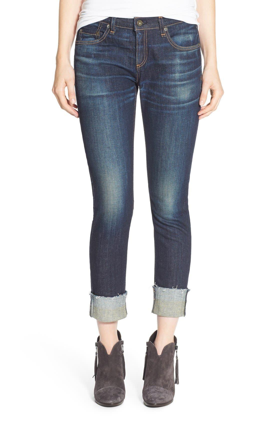 ,                             /JEAN 'The Dre' Slim Fit Boyfriend Jeans,                             Main thumbnail 1, color,                             402