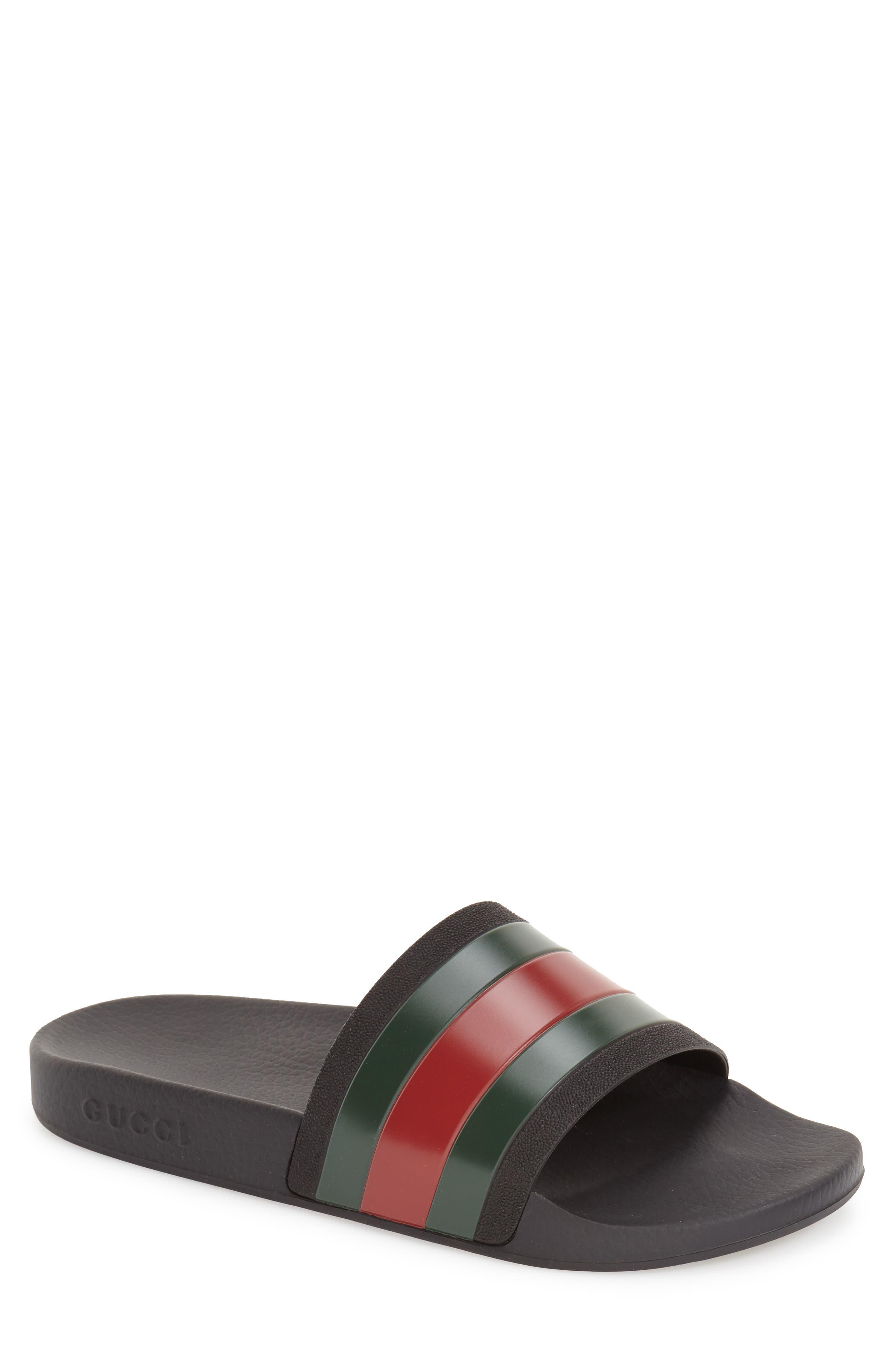 ,                             Pursuit Rubber Slide Sandal,                             Main thumbnail 1, color,                             BLACK