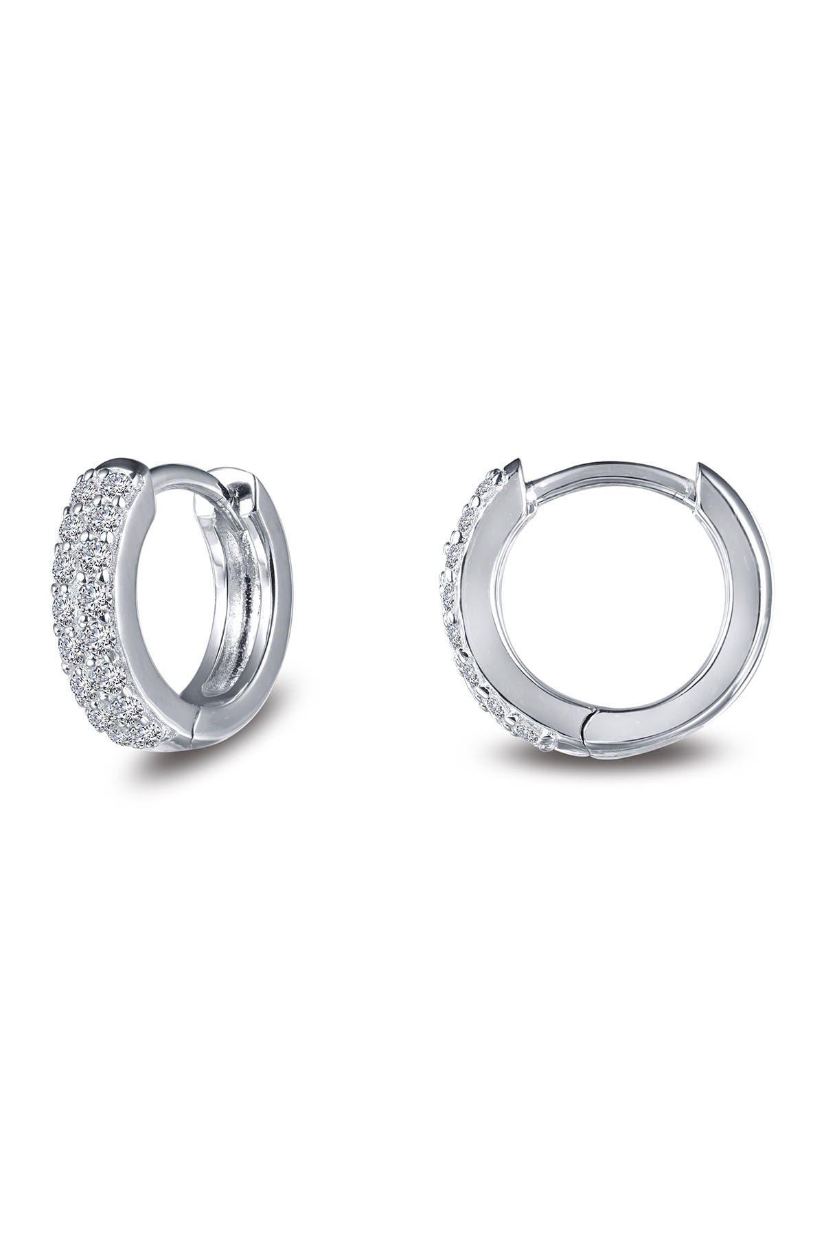 Image of LaFonn Simulated Diamond Pave 11mm Huggie Earrings
