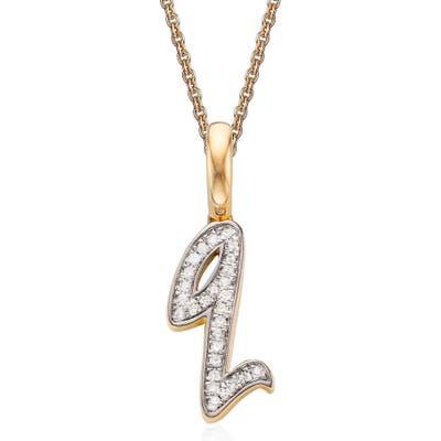 Monica Vinader Alphabet Diamond Pave Pendant Charm