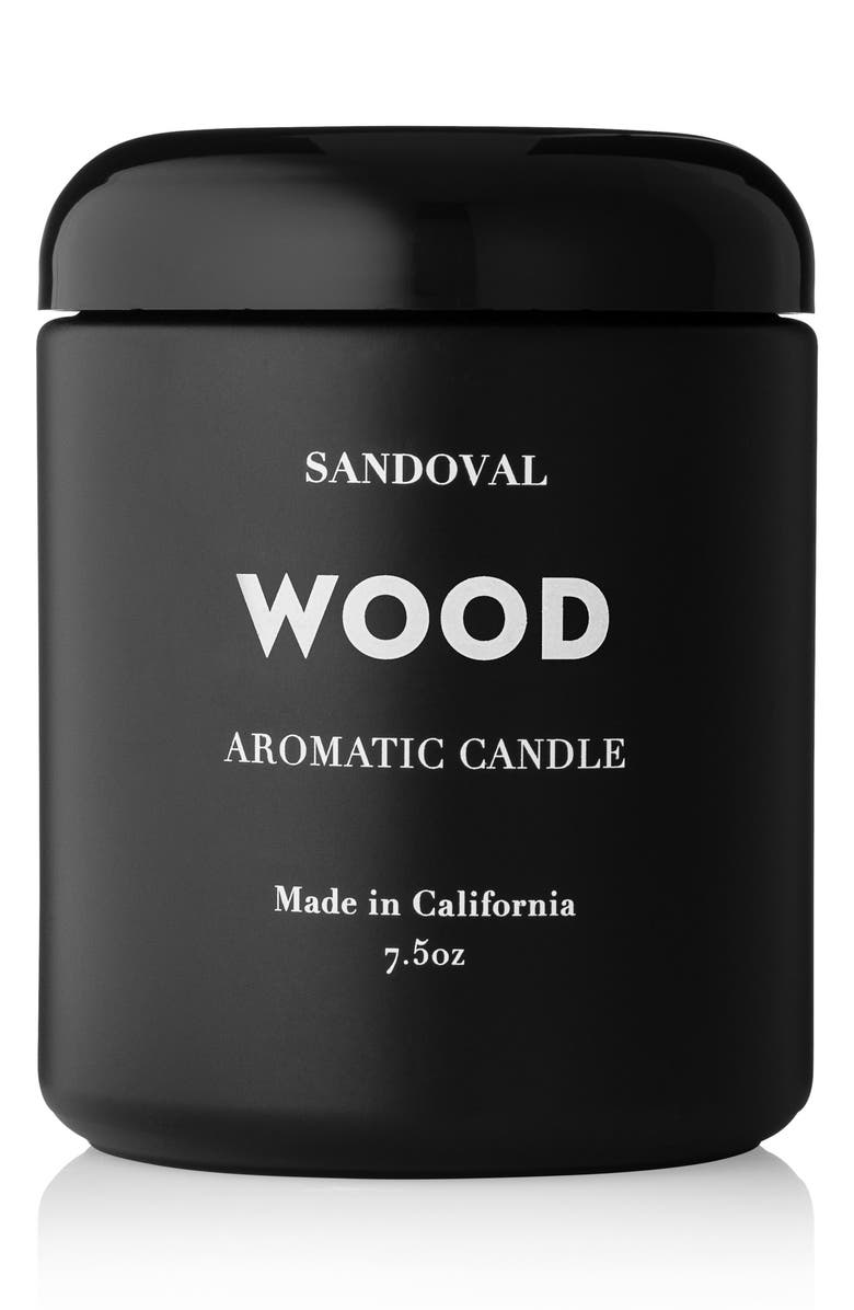 SANDOVAL Wood Aromatic Candle, Main, color, WOOD