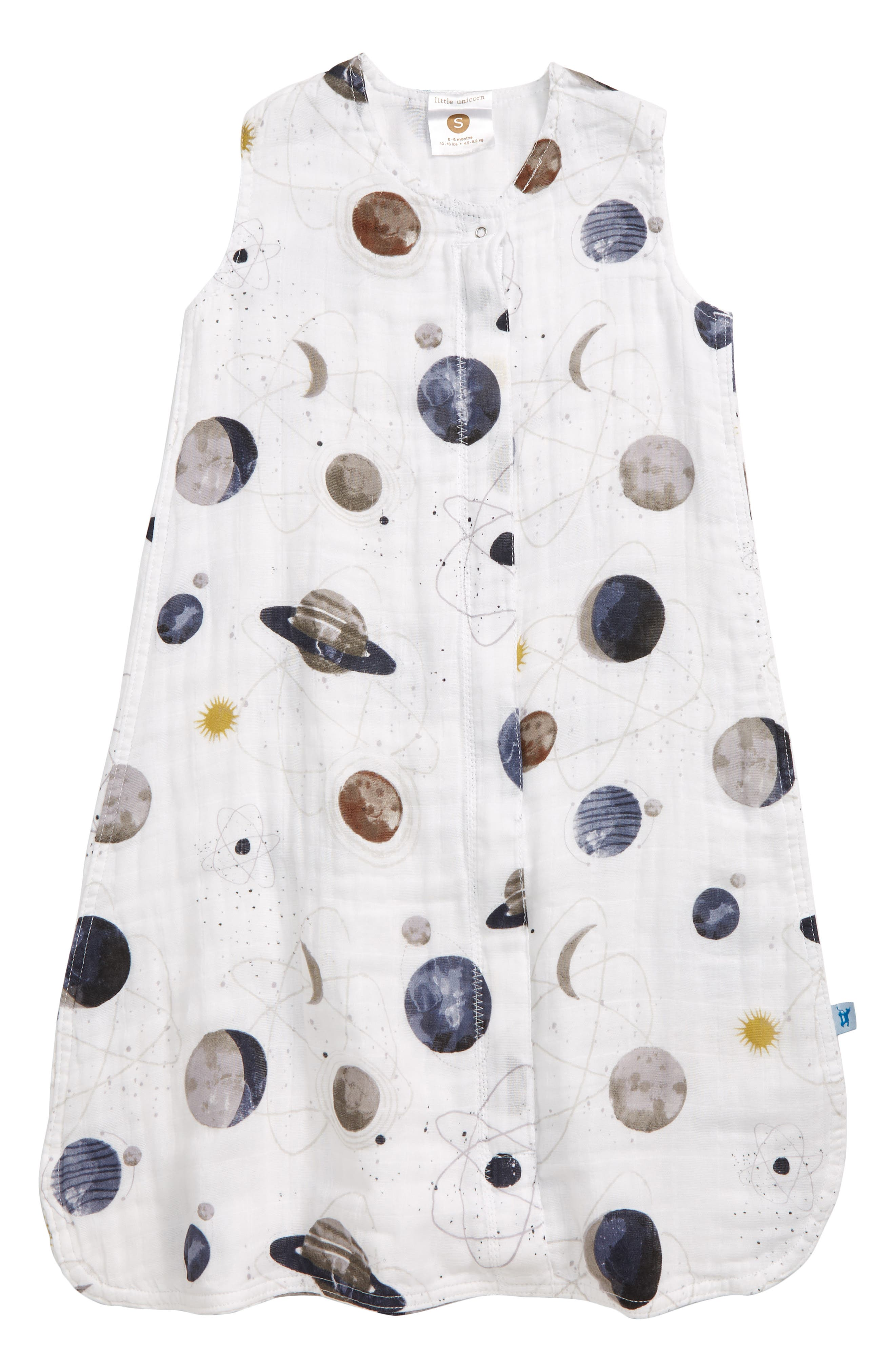 Little Unicorn Cotton Muslin Wearable Blanket Size M (612m)  White