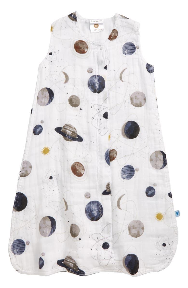 LITTLE UNICORN Cotton Muslin Wearable Blanket, Main, color, PLANETARY