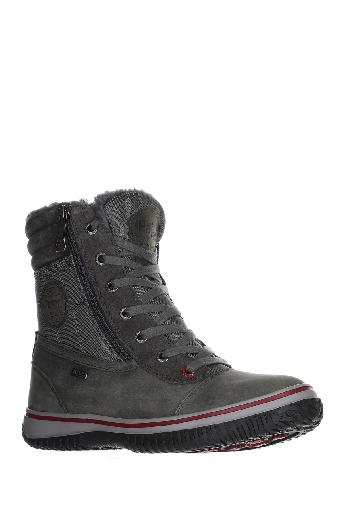 Truck Faux Shearling Lined Lace-Up Boot