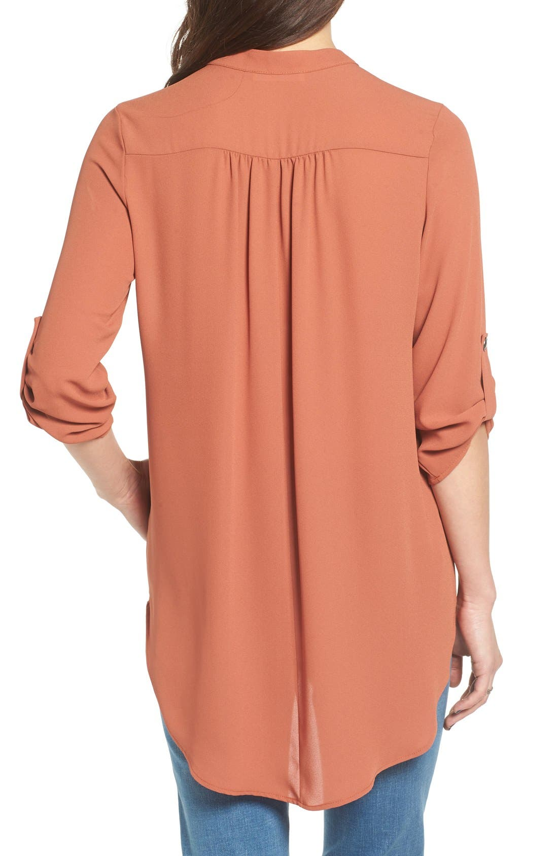 ,                             Perfect Roll Tab Sleeve Tunic,                             Alternate thumbnail 215, color,                             240