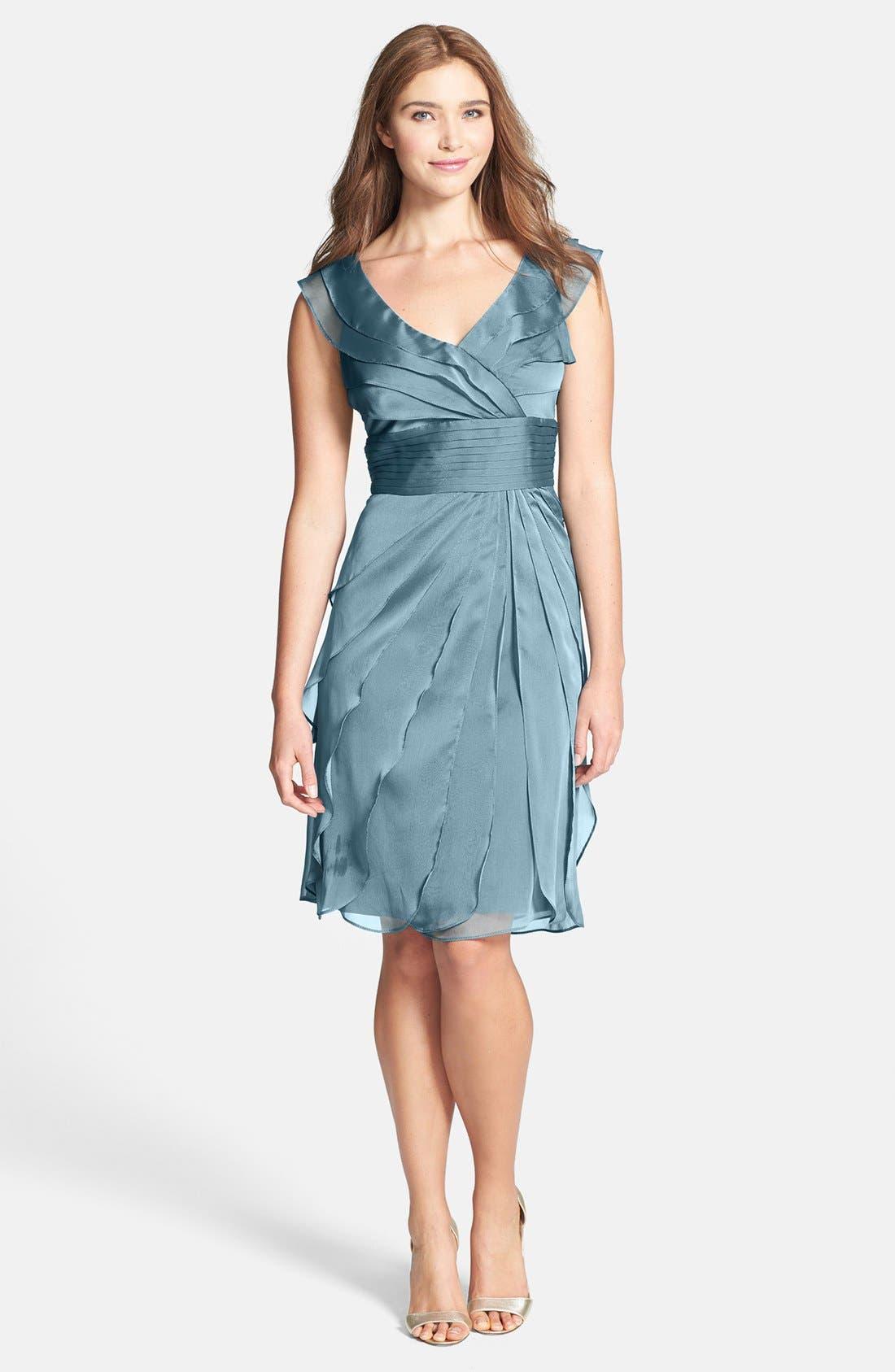 ,                             Tiered Chiffon Dress,                             Main thumbnail 24, color,                             440