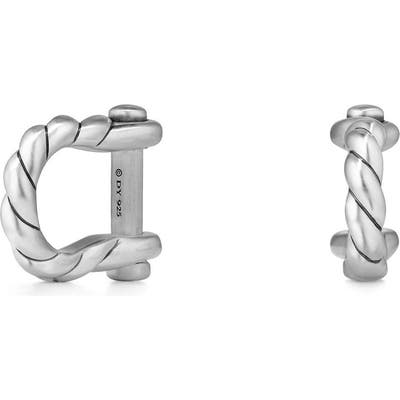 David Yurman Maritime Shackle Silver Cuff Links