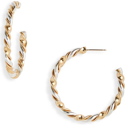Laura Lombardi Ribbon Hoop Earrings