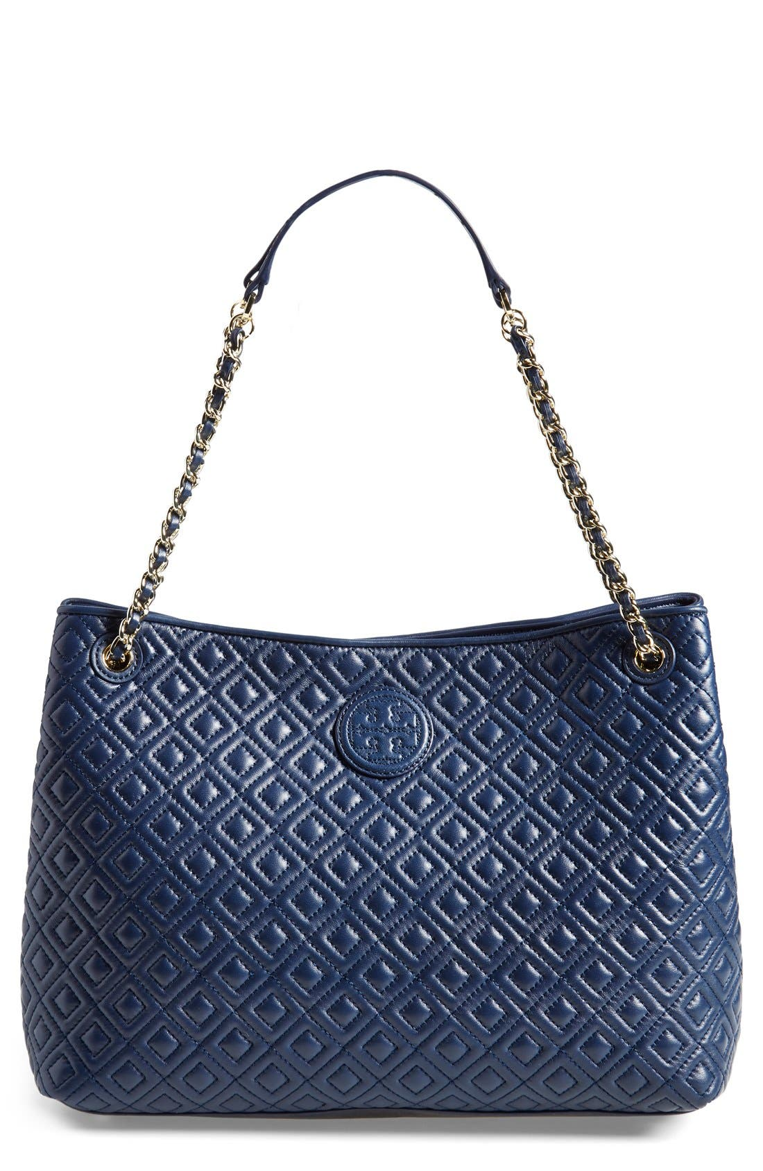 ,                             'Marion' Diamond Quilted Leather Tote,                             Main thumbnail 4, color,                             400