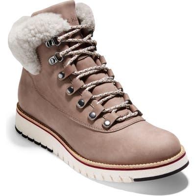 Cole Haan Grandexpl?re Genuine Shearling Trim Waterproof Hiker Boot B - Beige