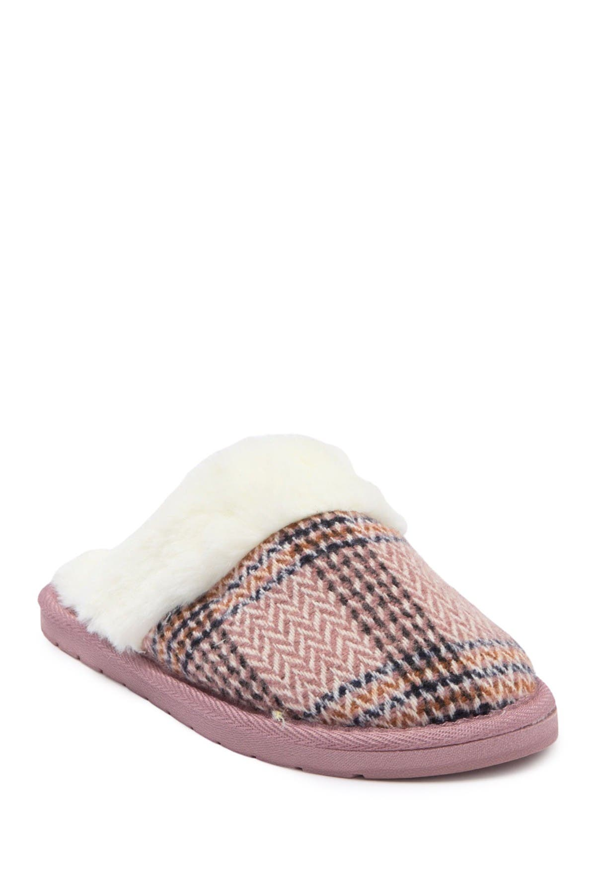 Image of Kensie Plaid Knit Slipper