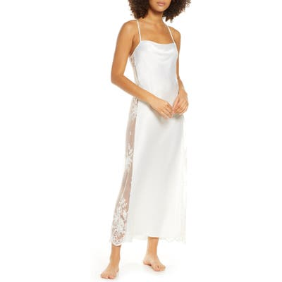 Rya Collection Darling Satin & Lace Nightgown, Ivory