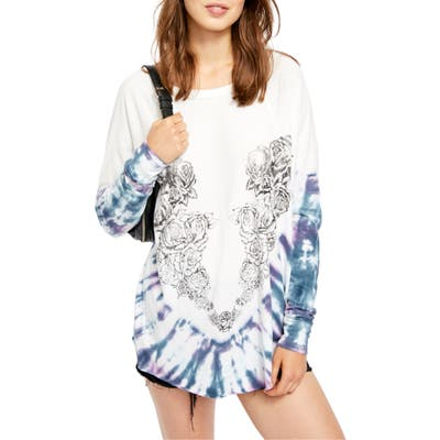 Free People Heart In A Rose Graphic Tee, White