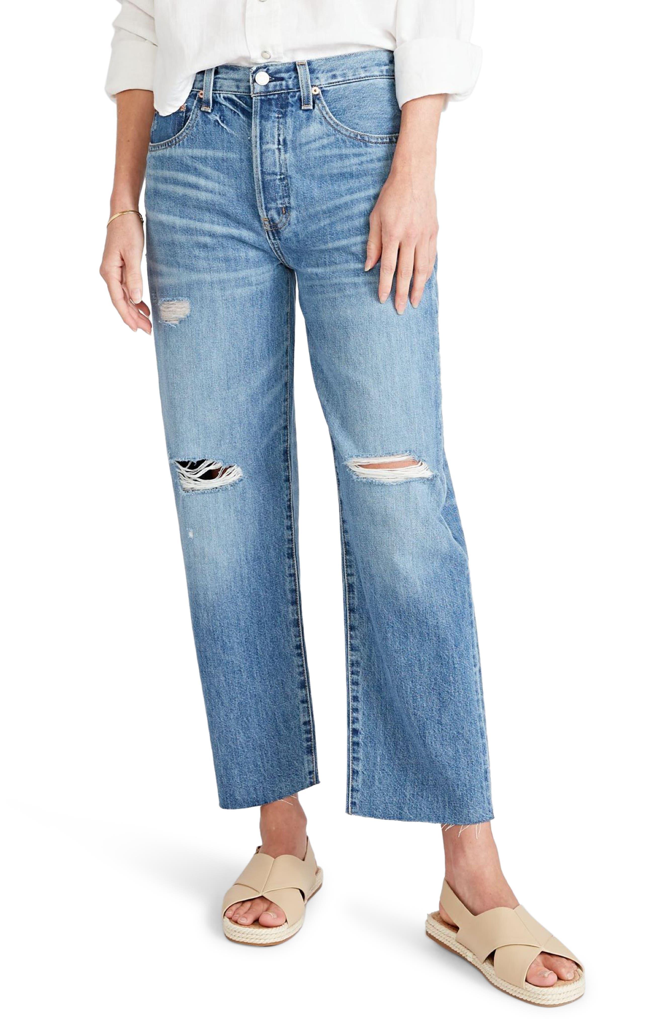 Women's Etica Tyler Ripped High Waist Wide Leg Jeans