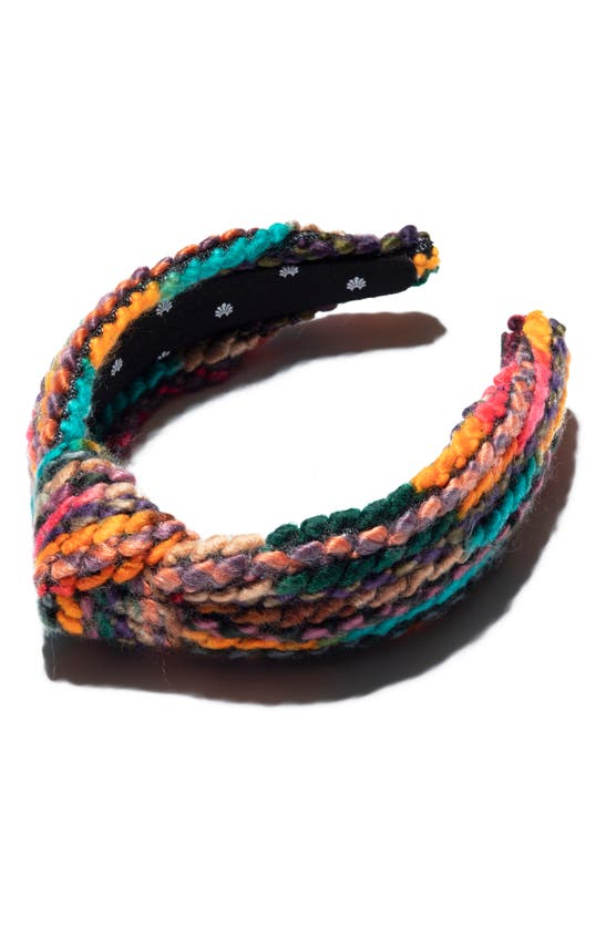 Lele Sadoughi Knotted Sweater Headband In Desert Rainbow