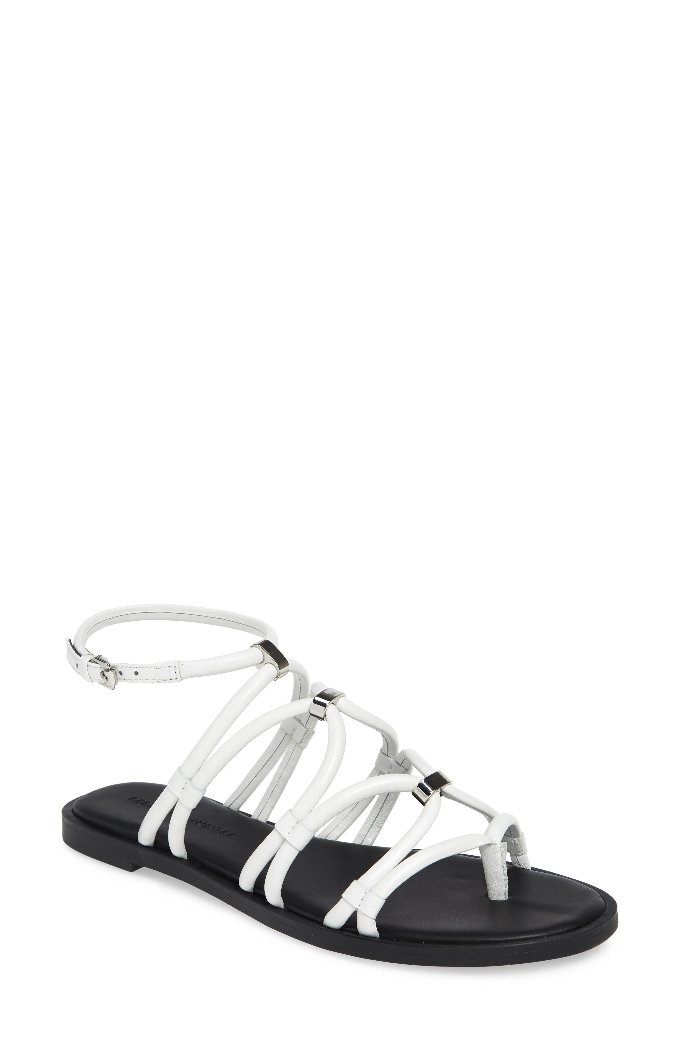 ,                             Sarle Strappy Sandal,                             Main thumbnail 1, color,                             WHITE