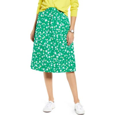 Petite 1901 Pull-On A-Line Skirt, Green